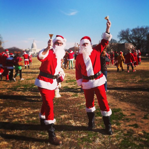 Santas on the Mall