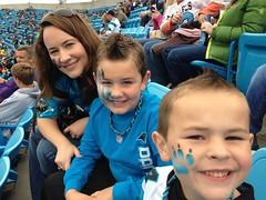 2012 Carolina Panthers vs Seattle Seahawks - Vanessa, Harrison (8) & Jackson (6)
