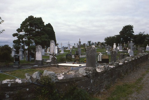 19940804S-14  Mullahoran cemetery (Kilcogy) where John Arkins (Mary A Leonhardt's father) buried  Kilcogy, Ireland  4 Aug 1994