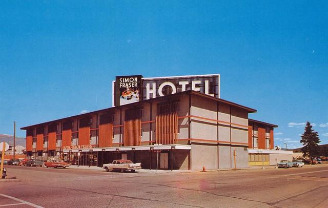 postcard simon fraser hotel prince george bc 1961. Black Bedroom Furniture Sets. Home Design Ideas