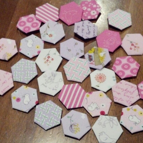 Posy hexagons