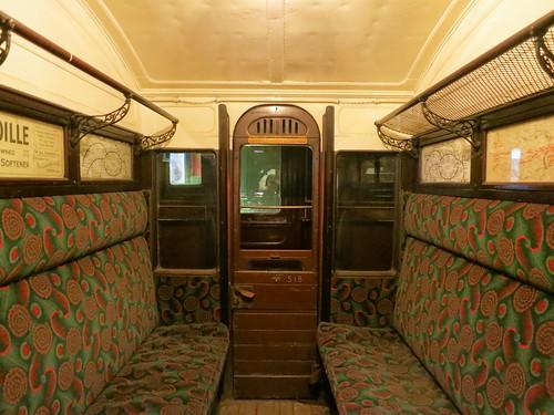 Old London Underground carriage