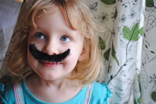 E with moustache