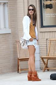 Alessandra Ambrosio Wedge Sneakers Celebrity Style Women's Fashion