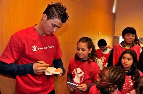 Cristiano Ronaldo nieuwe ambassadeur Save the Children