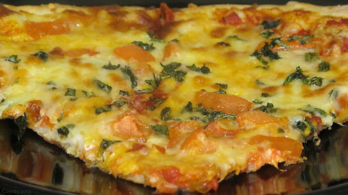 Tomato and basil pizza by Coyoty