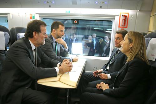 Inauguración del AVE Barcelona-Figueres