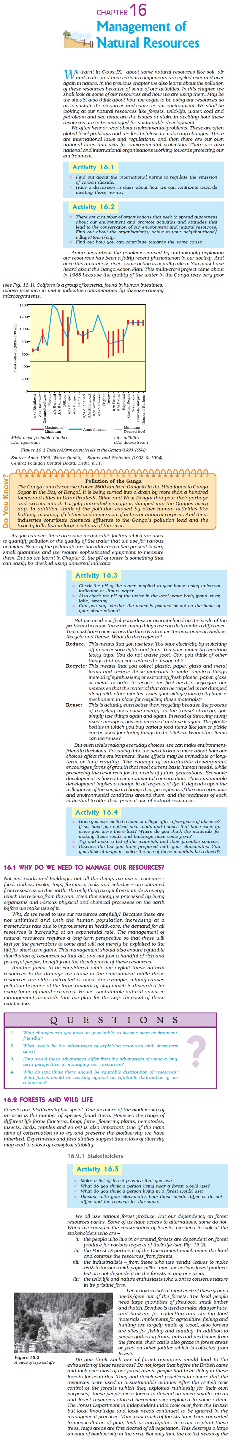 NCERT Class X Science: Chapter 16 - Management of Natural Resources