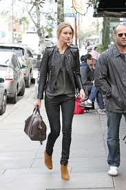 Rosie Huntington Whiteley Ankle Boots Celebrity Style Women's Fashion