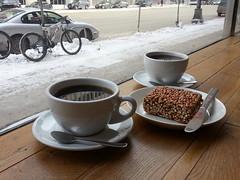 Hot coffee, Cold sidewalk