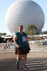 In front of Spaceship Earth