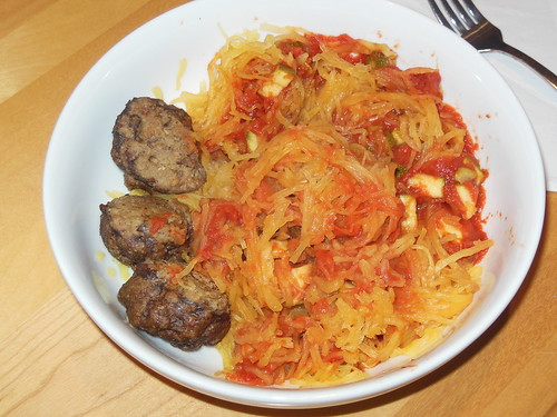 Spaghetti Squash and Paleo Meatballs