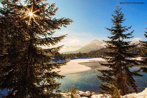 trees sun snow mountains topaz snoqualmiepass goldpond boostfilter