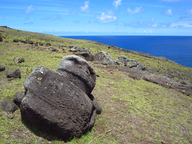 Fallen Moai on North Coast of Rapa Nui