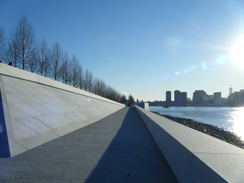 Riverside path in Four Freedoms Park