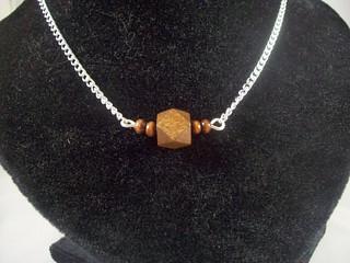 Geometric Wood Bar Necklace5