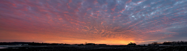 Big Sky Sunset Pano