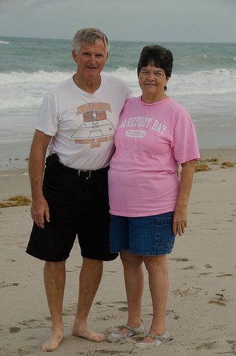 Mom and Dad on Golden Sands