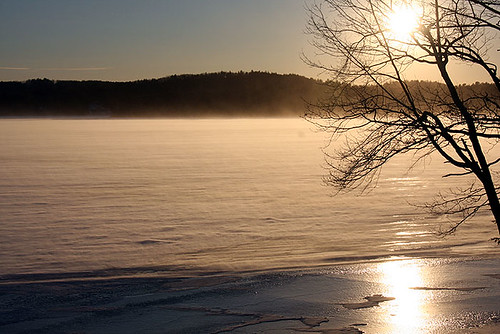 Blowing snow at Lake Winnipesaukee NH by blackcatnh