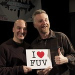 Billy Bragg with host Eric Holland in Studio A. 2/4/13.