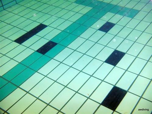 Onderwater tegel reparatie