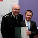 Receiving certificate from Insp O'Hagan