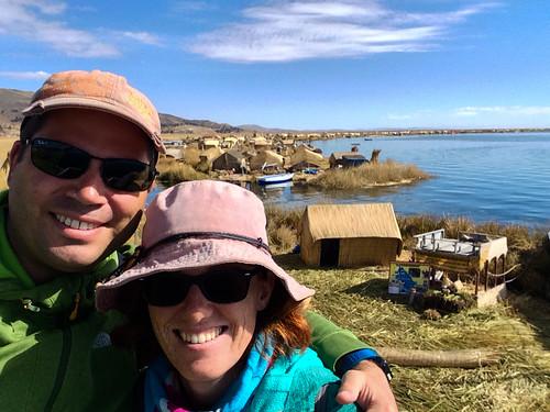 Lac Titicaca: les îles Uros (vues du mirador de notre île)