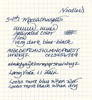 Noodler's 54th Massachusetts Ink