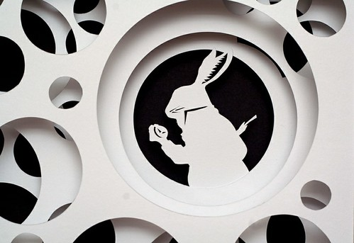 Paper Cut Work: Down the Rabbit Hole - detail