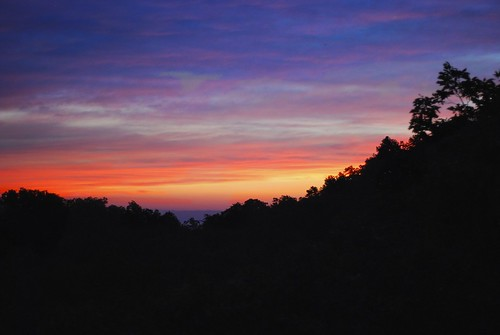 sunset sky usa mountain colors silhouette clouds us colorful tennessee