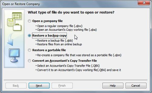 step 1 - open or restore quickbooks for landlords
