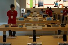 銅鑼灣 Apple Store 一樓產品體驗區