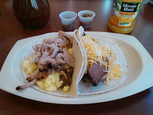Breakfast BBQ Tacos