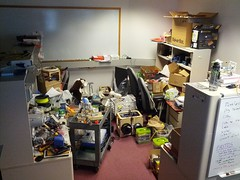 What Will Byrd's office looked like in December 2012, at the end of his nine years at IU.