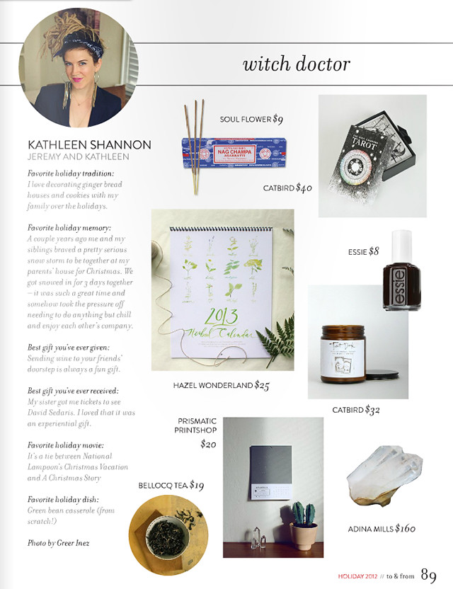 And Kathleen | Holiday Gifts for Witch Doctors