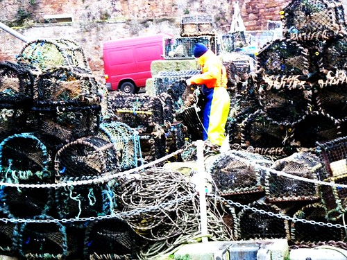 Lobster Pots at Crail Harbour