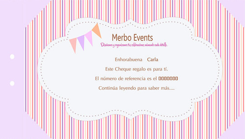 Cheque Regalo 1Merbo Events