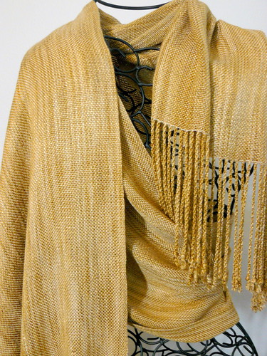 Handwoven Gold Shawl