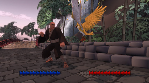 Karateka 2012 for PSN: Brute vs Guard in Walkway