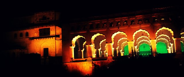 orchha sounds and light show
