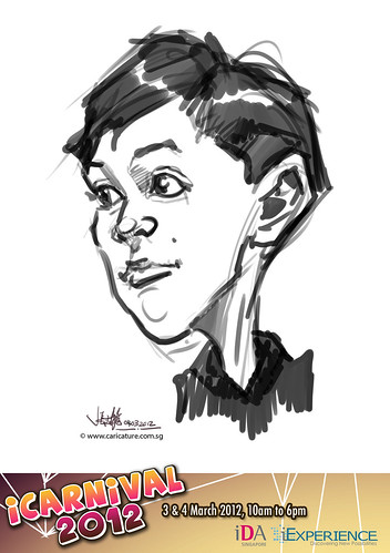 digital live caricature for iCarnival 2012  (IDA) - Day 2 - 13