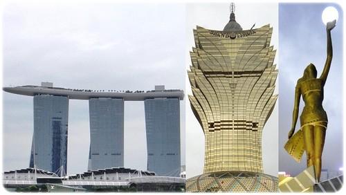 Singapura, Macau, Hongkong