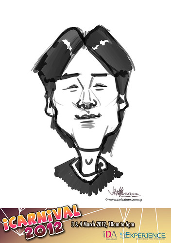 digital live caricature for iCarnival 2012  (IDA) - Day 1 - 98