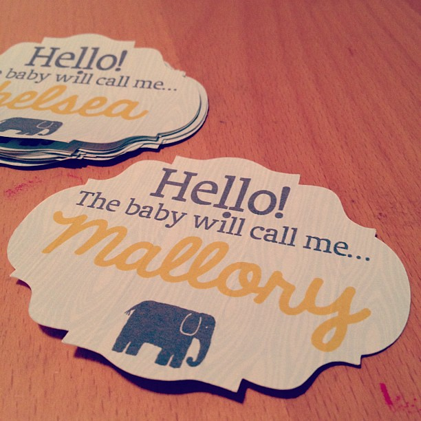 baby shower name tags flickr photo sharing
