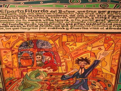illuminated text detail
