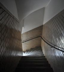 sigurd lewerentz, architect: eneborg's egnahem, workers' housing, helsingborg, skåne 1917-1918. stairs.