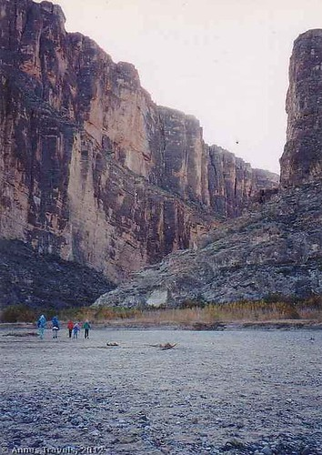 The entrance to Santa Elena Canyon, Big Bend National Park, Texas