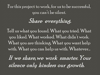 "PowerPoint Slide:  ""Silence only hinders our growth"""