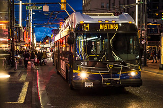 "Granville Street at Night ""14 Hastings"""