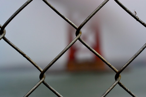 golden gates & a chain link fence